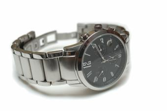 metal watch with links