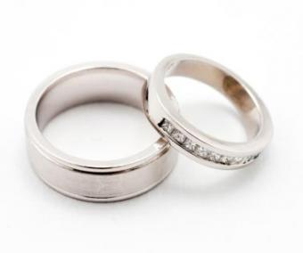 White gold engagement rings.