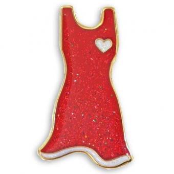 Red dress pin