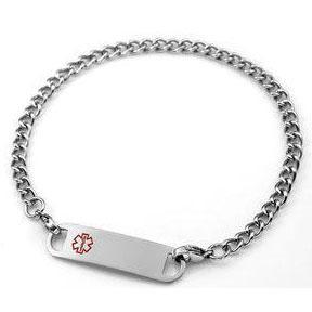 2131 Stainless Steel Long Medical ID Ankle Bracelet