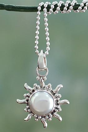 Quiet Sun Necklace from NOVICA