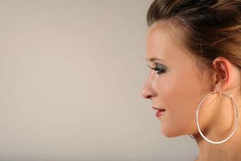 Oversize hoop earrings