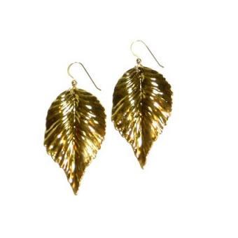 kipepeo gold leaf earrings