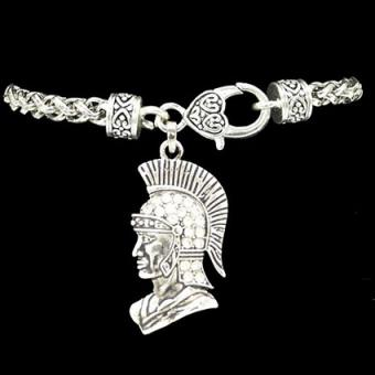 Silver Trojan Decorative Charm Clasp