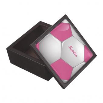 Customizable soccer jewelry box