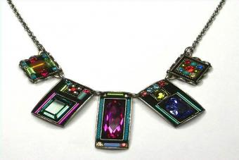Firefly Baguette Multicolor Necklace