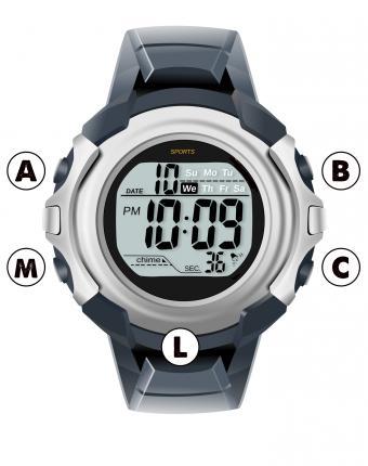 digital watch diagram