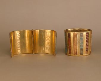 New Kingdom Hinged Cuff Bracelet