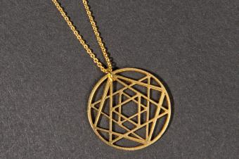 Geometrical Star of David Necklace