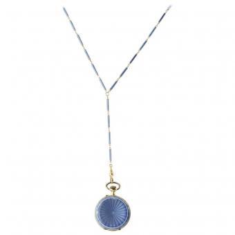 Swiss Pocket Watch on a Lorgnette Necklace