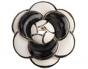 MISASHA Camellia Black Fashion Brooch Pin