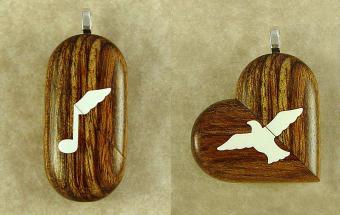 Wood illusionist lockets from Illusionistlocket.com