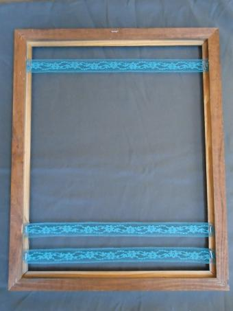 Picture Frame Jewelry Holder Steps 7 to 9