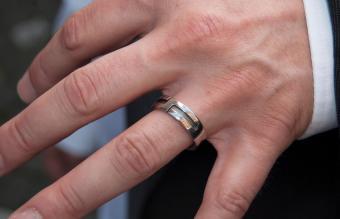 Cropped Hand Wearing Wedding Ring