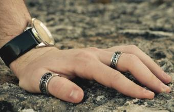 Male hand with Jewelry