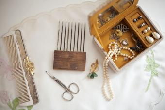 Vintage Jewelry Box and Comb