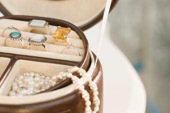 Jewellery in jewellery box