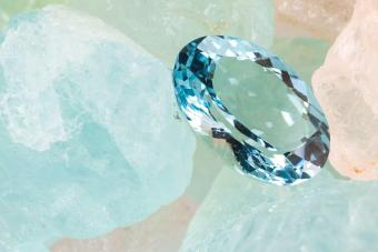 A beautiful aquamarine gemstone