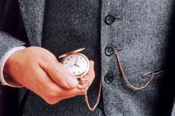 Man checking his pocket watch