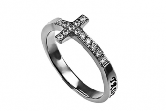 Atrio Hill - True Love Waits Sideways Cross Ring