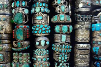 A display of Native American bracelets / Getty Editorial Use