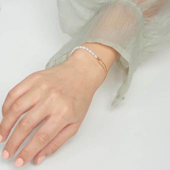 Keshi Pearl Bead Chain Bracelet