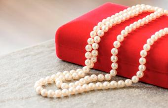 Pearl Jewelry On Table