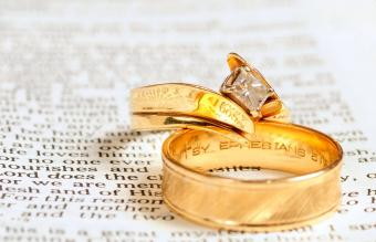 Bible and wedding rings