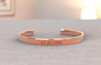 Copper bracelet engraved
