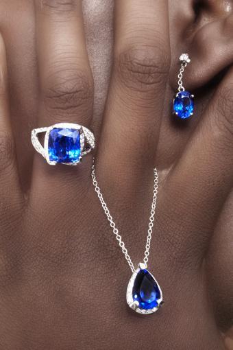 Tanzanite and Diamonds Designer Jewellerys