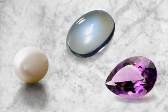 June Birthstones glowing