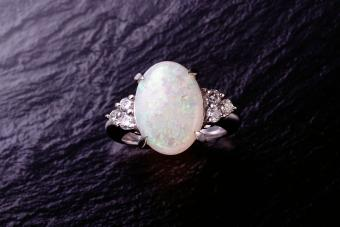 Opal stone on ring