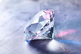 Diamond on piece of granite
