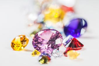 Multi Colored Pencils Precious Gemstones