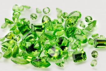 Pile of Peridot gems