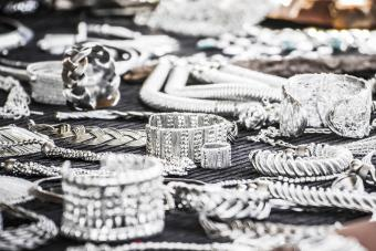 Silver Jewelry on table