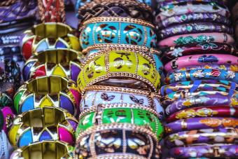 Colorful Bangles For Sale At Market