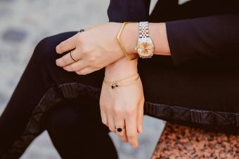 Jewelry on female hands