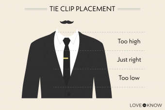 Tie clip placement