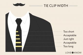 Tie clip widths