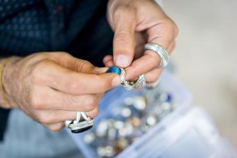 Silver craft jewelry making