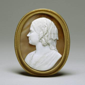 Brooch with Cameo Bust of Ellen Walters