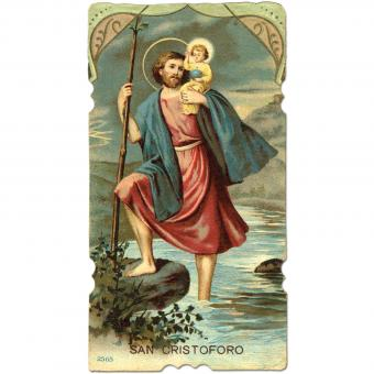 Saint Christopher carries Baby Jesus