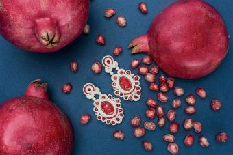 Pomegranate inspired jewelry