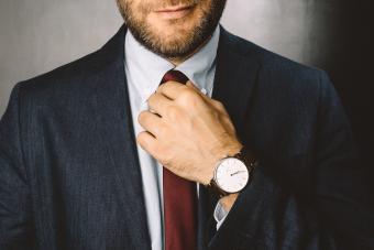 Businessman getting ready to work