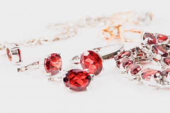 Jewelry with ruby stones