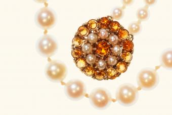 Antique Cultured Pearls and Topaz