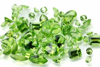 Pile of Peridot Gemstones