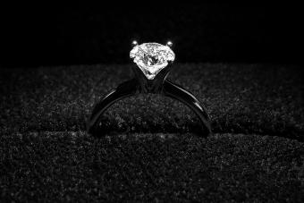 Black Gold and Diamond Engagement Ring