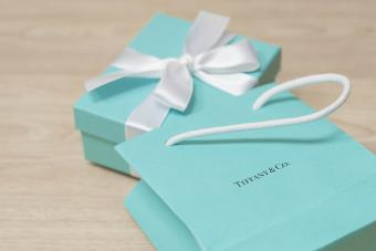Tiffany & Co. Blue Box - brand package of luxury jewelry